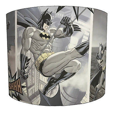 Batman & Joker Lampshades Ideal To Match Batman Wallpaper & Batman Quilt Covers.