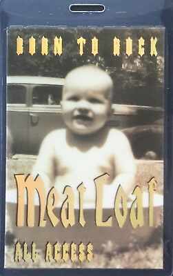 **** MEAT LOAF **** LAMINATED BACKSTAGE PASS 1994 beautiful foiled - ALL ACCESS