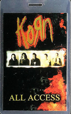 ***** KORN ***** - LAMINATED BACKSTAGE PASS - ALL ACCESS - w/ laser foil - 2002