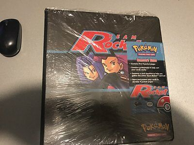 RARE !!! Pokemon Team Rocket Collector's Binder Album TCG FACTORY SEALED