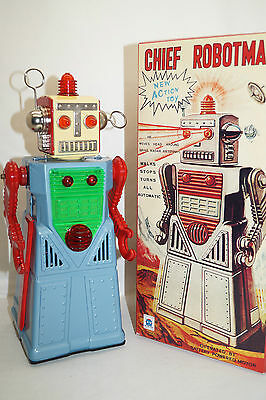 CHIEF ROBOTMAN HA HA TOY hellblau Space Roboter China Re-Issue