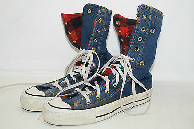 CONVERS vintage 70/80th USA MADE ALL STAR High Jeans Gr.39  UK 5,5