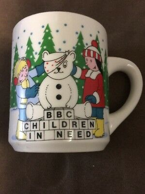 Rare BBC Children In Need Christmas Scene With Children & Pudsey Bear Mug