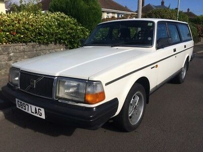 Volvo 240Dl Estate 1989 Manual White G Reg With Extras  - Price Dropped