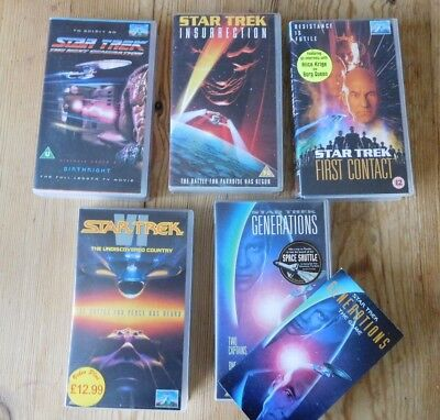 Star Trek Videos Vhs Tapes 5 In Job Lot With Original Generations Game Leaflet