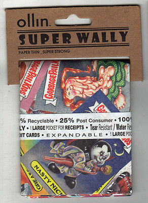 Garbage Pail Kids  Nasty Nick WALLET Tyvek Ollin Super Wally Recyclable scarce