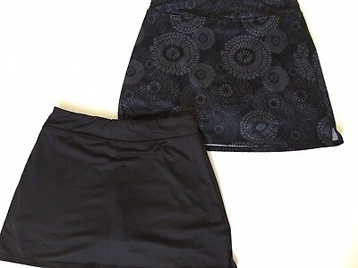 Lot of 2 Colorado Clothing Tranquility Stretch Knit Casual Skorts Black Print S