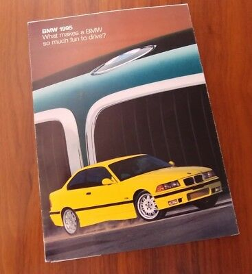 BMW FULL LINE BROCHURE 750iL POSTER  ADVERTISING COLLECTIBLE 1995 E36 M3 E38