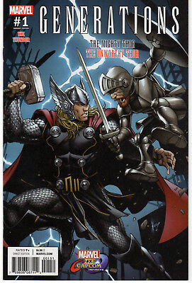 GENERATIONS: UNWORTHY THOR & MIGHTY THOR #1 Variant,  Marvel, 2017  NM  (9.4)