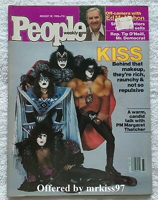 People Magazine KISS Original Vintage 1980 Eric Carr Fox Ace Gene not Aucoin OOP