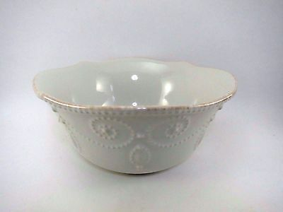 """Lenox Cereal Bowl 6 5/8"""" FRENCH PERLE BEAD EUC American Design China Porcelain"""