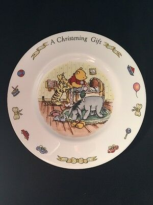 Winnie The Pooh Plate A Christening Gift Royal Doulton Disney
