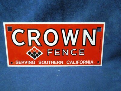Vintage Metal Nos Advertising Sign Crown Fence Southern California