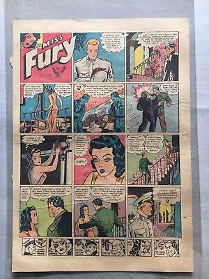 Miss Fury Newspaper Sunday Page,  August 13, 1944