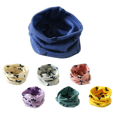 SS Boys Girls Collar Baby Scarf Cotton O-Ring Neck Scarves (Beige)