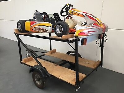 2008 Intrepid go kart,*Rotax 125 max senior* *Two kart trailer and spares*