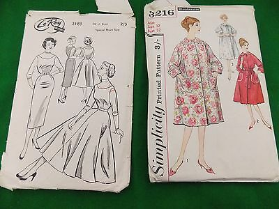 vintage dressmaking patterns 1950s ladies dresses and house coats