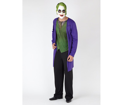 Adult Men's The Joker From Batman Fancy Dress Costume Halloween