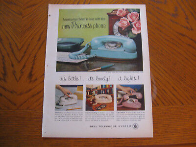 1960 Bell Telephone System new princess phone print magazine ad