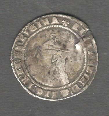 Elizabeth 1St 1577 ? Hammered Six Pence Silver . Auction Starts At £1