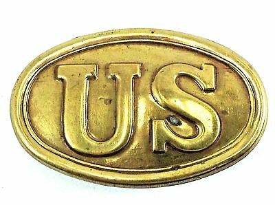 US Civil War Military Oval Belt Buckle VTG REPRO Union Solider Reenactment