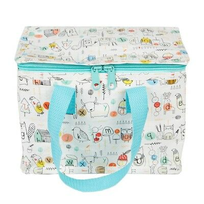Sass And Belle Insulated Lunch Bag - Woodlands Alphabet