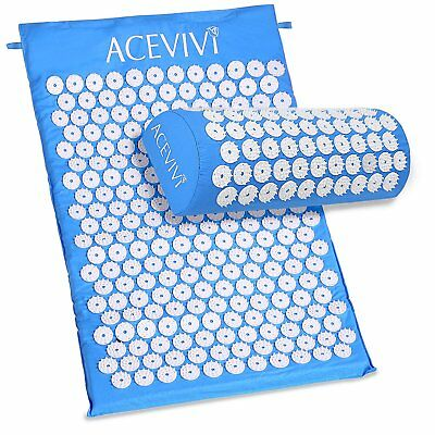 Back and Neck Pain Relief - Acupressure Mat and Pillow Set