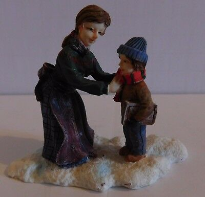 """O'Well Dickens Village Mother & Son Figurine approx 2.5"""" Tall"""