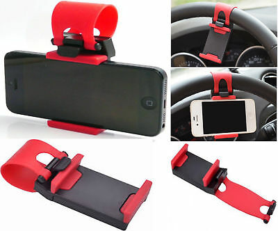 Universal Mobile Phone PDA Car Steering Wheel Mount Holder Clip Stand Cradle