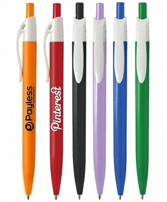 250 Personalized Lincoln Click Pen Printed with Your Logo or Message