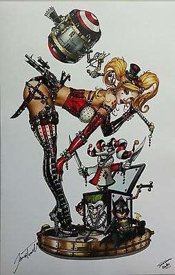 Harley Quinn Print Art Signed Jamie Tyndall High Quality 11 X 17 Zenescope 9.8
