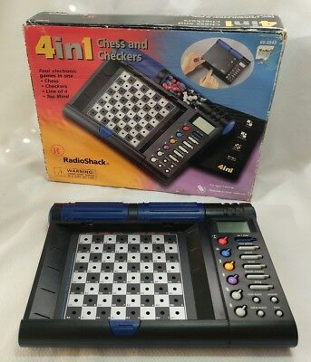 Radio Shack 4 in 1 Electronic Chess, Checkers, Line of 4, Top Mind