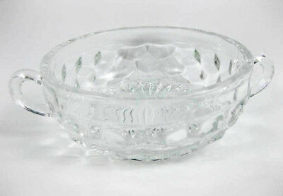 """Vintage Fostoria American Clear Double Handled Bowl 5-1/2"""""""