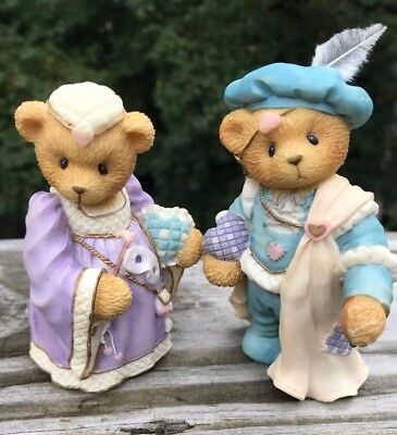 Cherished Teddies Collectable Bears By Enesco Romeo and Juliet set - Used