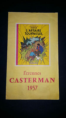 Tintin Catalogue Casterman Etrennes 1957 complet Tim Kuifje rare