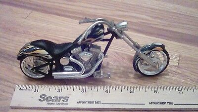 Harley Davidson  Chopper Die Cast  Black With Flames