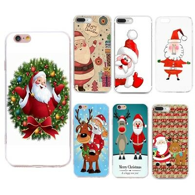 For iPhone Huawei Fashion Christmas Soft Silicone TPU Skin Case Phone Back Cover