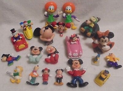 Vintage Walt Disney Figure Lot of Toys PVC Plastic Mickey,Donald,Minnie
