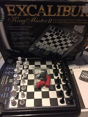 Excalibur King Master 2 in 1 Electronic Chess & Checker Game! Model 911E!