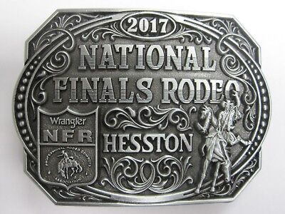 National Finals Rodeo Hesston 2017 NFR Adult Cowboy Buckle New Wrangler AGCO