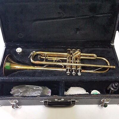 Jupiter STR-300 Yellow Brass Trumpet With Case And Accessories