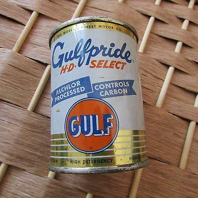 Gulfpride Vintage Motor Oil Can Bank Gas Oil Advertising
