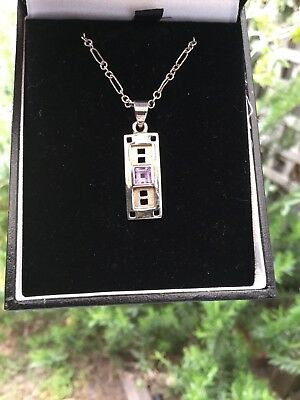 925 Silver Bulk Buy! Eye catching Mackintosh Design Necklace, Lovely Chain Boxed