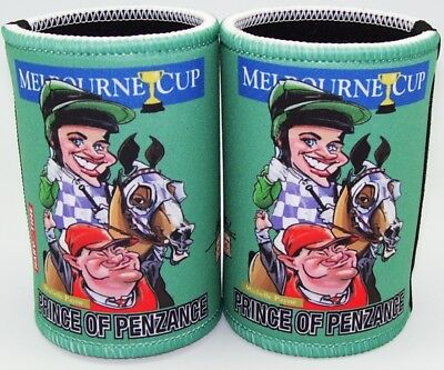 Melbourne Cup - Prince of Penzance Cartiture Stubby holders x 2