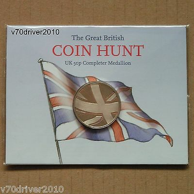 Completer Medallion for 50p 50 PENCE 1st Ed Coin Hunt Folder Album Royal Mint NZ