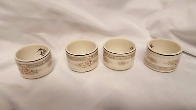 NORITAKE china ROTHSCHILD 7293 pattern NAPKIN RING set of FOUR