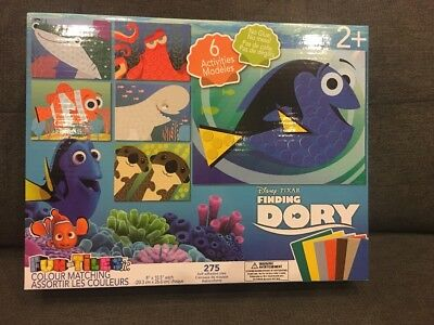 Finding Dory Fun-Tiles jr. Colour Matching Kit New In Box Disney Pixar Crafts
