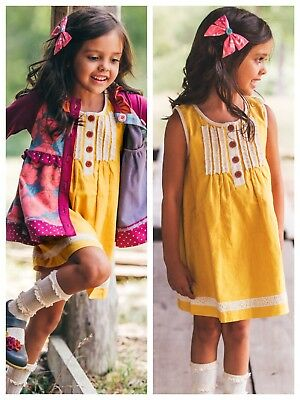 Boutique baby Girl 12mon WILDFLOWERS CLOTHING Out West Laverne A Line Dress GIFT