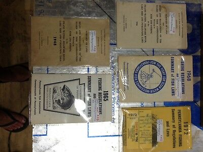 Lot Of Pennsylvania Fish and Game Commission Regulations.  1946 1948 1965 1968 1