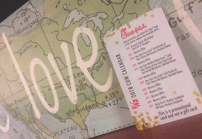 2018 Chick-fil-A Cow Calendar Freebie Card (Over $40 of Free Food and Treats!)